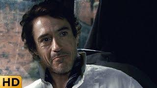 Холмс издевается над Ватсоном в кэбе. Шерлок Холмс 2009.