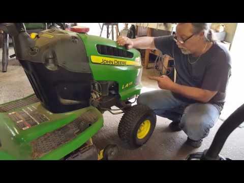 John Deere LA115 Riding Mower How To Sharpen Your Blades