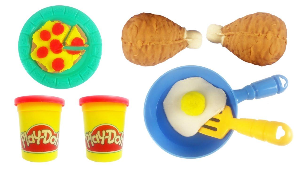 Klei Filmpjes Voor Kleuters Playdoh Speelgoed Magnetron Pizza Eitje