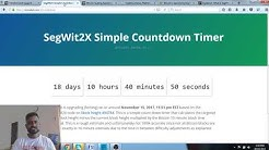 Segwit 2X hardfork countdown begins / the best bitcoin scaling solution ever