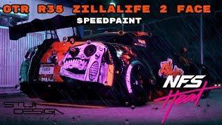 GTR R35 Twoface Zilla Life with Rearlight Face - NFS Heat Design / Speedpaint