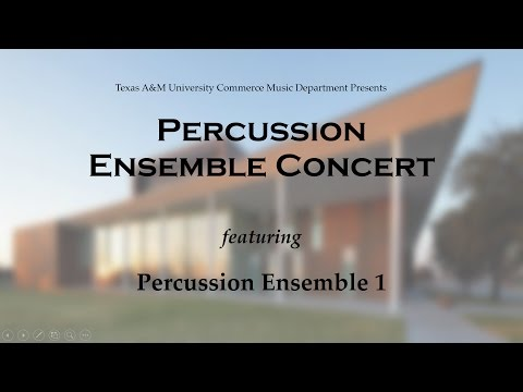 Texas A&M University-Commerce Percussion Ensemble 1 and Panimation
