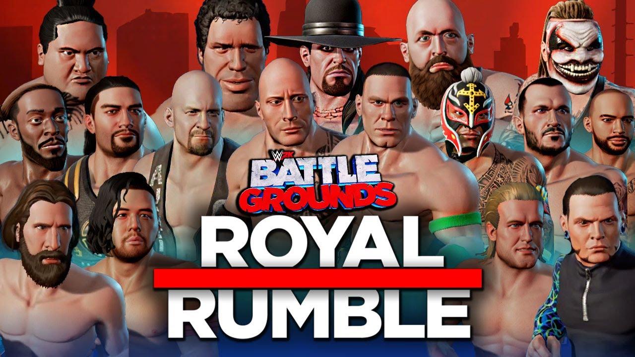 Download WWE 2K Battlegrounds: 30 MAN ROYAL RUMBLE MATCH!!