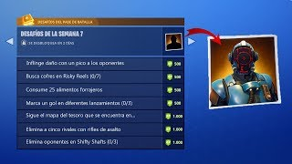 THESE ARE THE NEW MISSIONS OF THE WEEK 7 FORTNITE TO HAVE THE LEGENDARY SKIN!