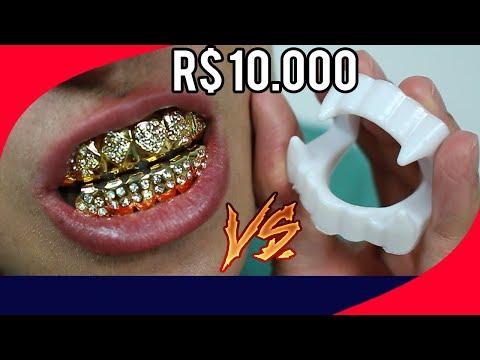 DENTADURA DE R$ 10.000 vs DENTADURA DE R$ 1