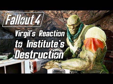 Fallout 4 - Virgil 's Reaction To Institute's Destruction (Super Mutant Version, No Serum)