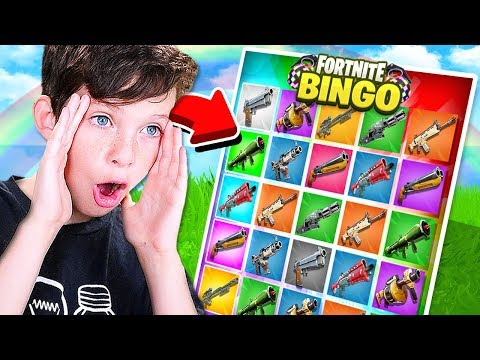 NEW* 1v1 FORTNITE RAINBOW BINGO CHALLENGE with my LITTLE BROTHER