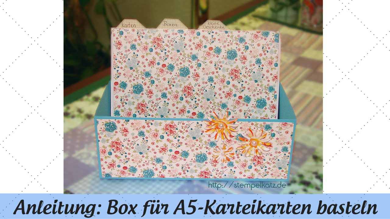 box f r a5 karteikarten basteln anleitung mit stampin 39 up youtube. Black Bedroom Furniture Sets. Home Design Ideas