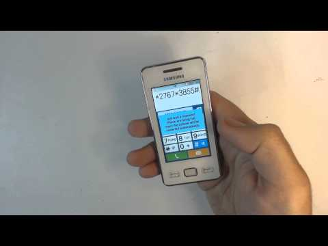Samsung Star 2 S5260 factory reset