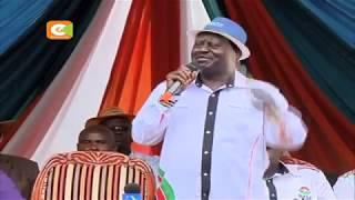 Odinga ataka wakazi wa Kericho wamuunge mkono