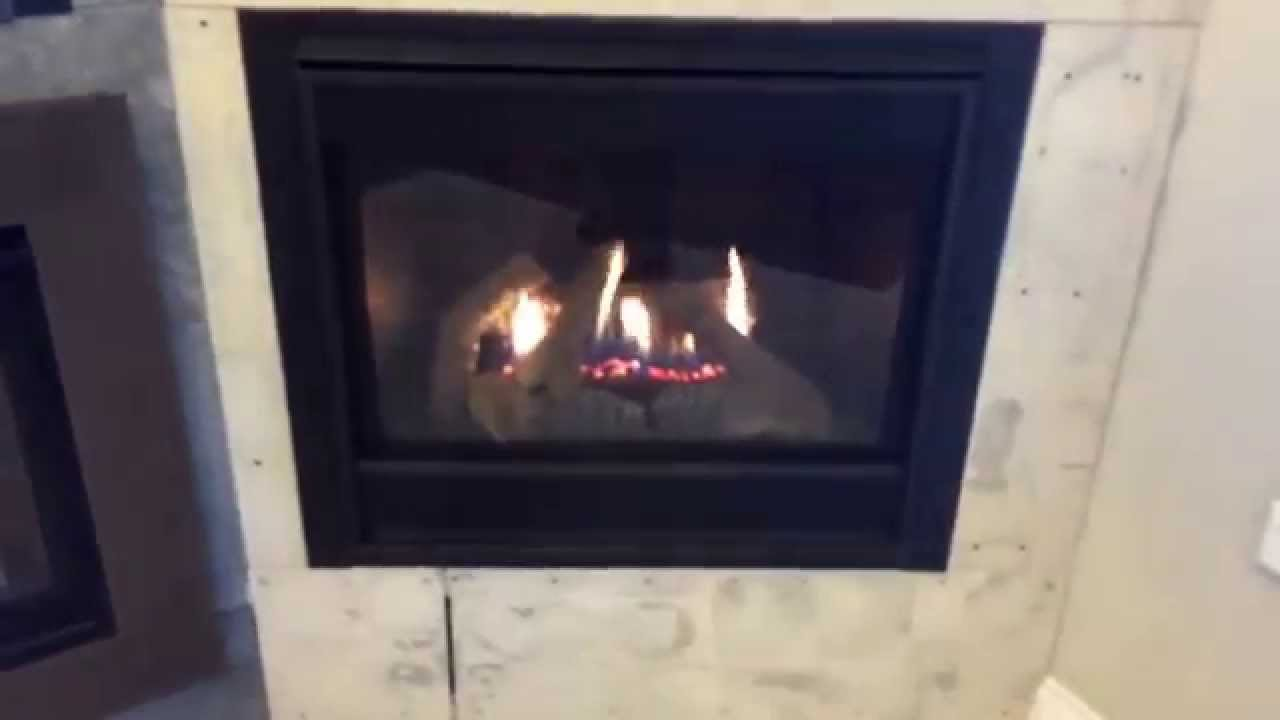 a better gas fireplace with ceramic glass youtube