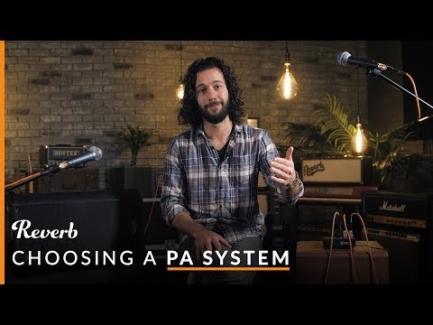 Mixers, Speakers, Mics: Choosing A PA System & Setting It Up The Right Way | Reverb