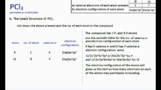 PCl3 : Lewis Structure and Molecular Geometry
