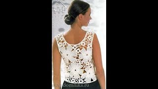 Женская Ажурная Летняя Кофточка Крючком - модели - 2019 / Women's Openwork Summer Blouse Crochet