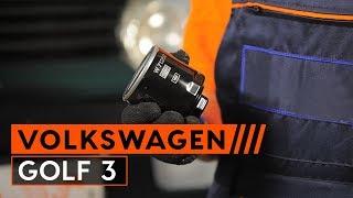 Kaip pakeisti variklio alyvą ir alyvos filtrą VW GOLF 3 1H1 Hatchback [PAMOKA AUTODOC]