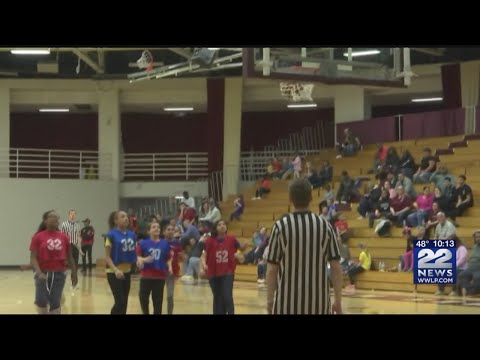 Frederick Harris Elementary School Students dribble for a good cause