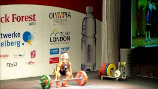 Julia Rohde stößt 97 kg (Full HD)