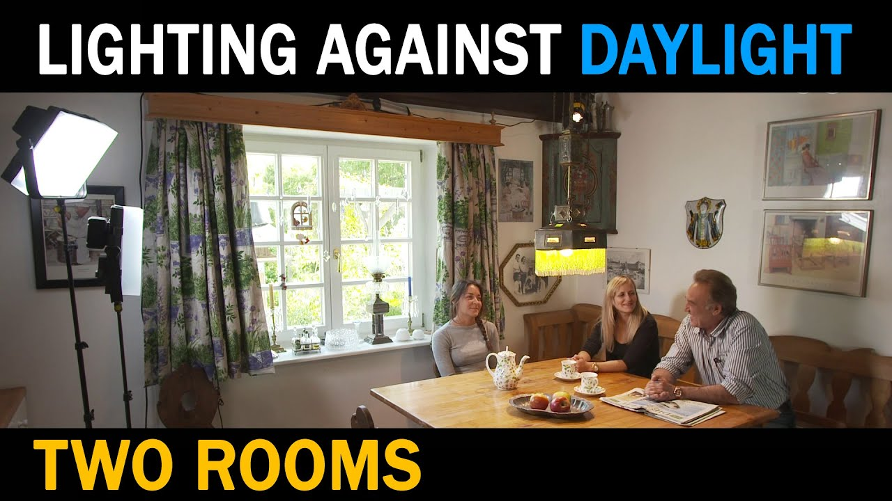 Lighting Against Daylight   In 2 Rooms