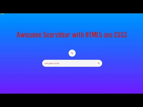 Awesome Search Box With HTML And CSS | Web Galaxy Studio |