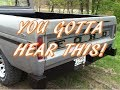 1971 Ford F100 Straight Pipe Exhaust