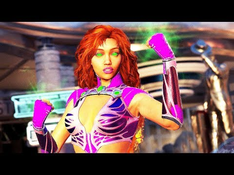 INJUSTICE 2 Starfire All Intros Dialogue Character Banter 1080p HD