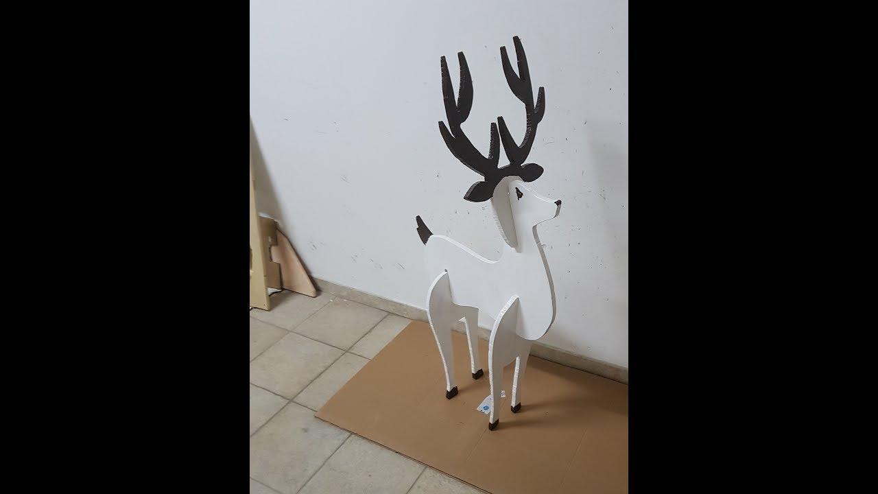 Come Creare Una Renna Luminosa renna di natale in legno-cnc project fai da te