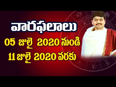 Vaara Phalalu 05th July To 11th July 2020 By Sri Tejaswi Sharma | July 2nd 2020 Week Rasi Phalalu