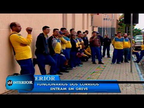 Funcionários dos Correios entram em greve na região