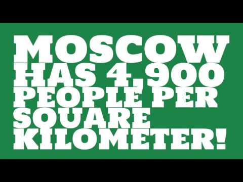 What is the land area of Moscow?