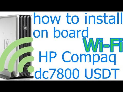 rd #194 How to install on board Wi Fi card in HP Compaq