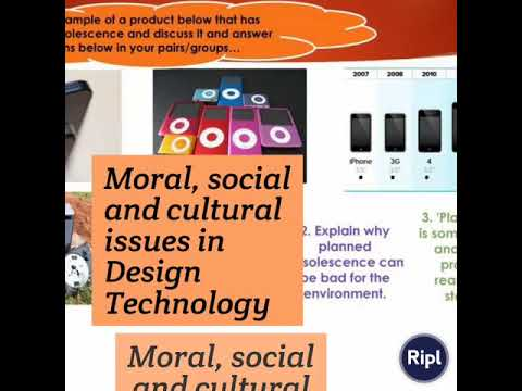 Moral Social And Cultural Issues In Design Technology Youtube