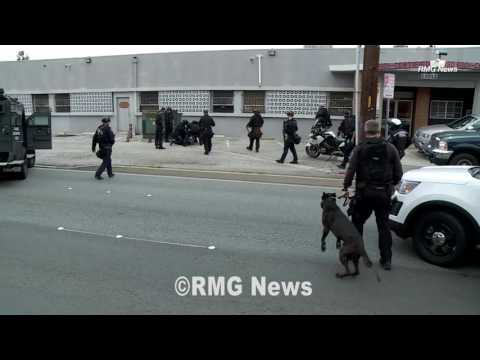 Suspect shot with