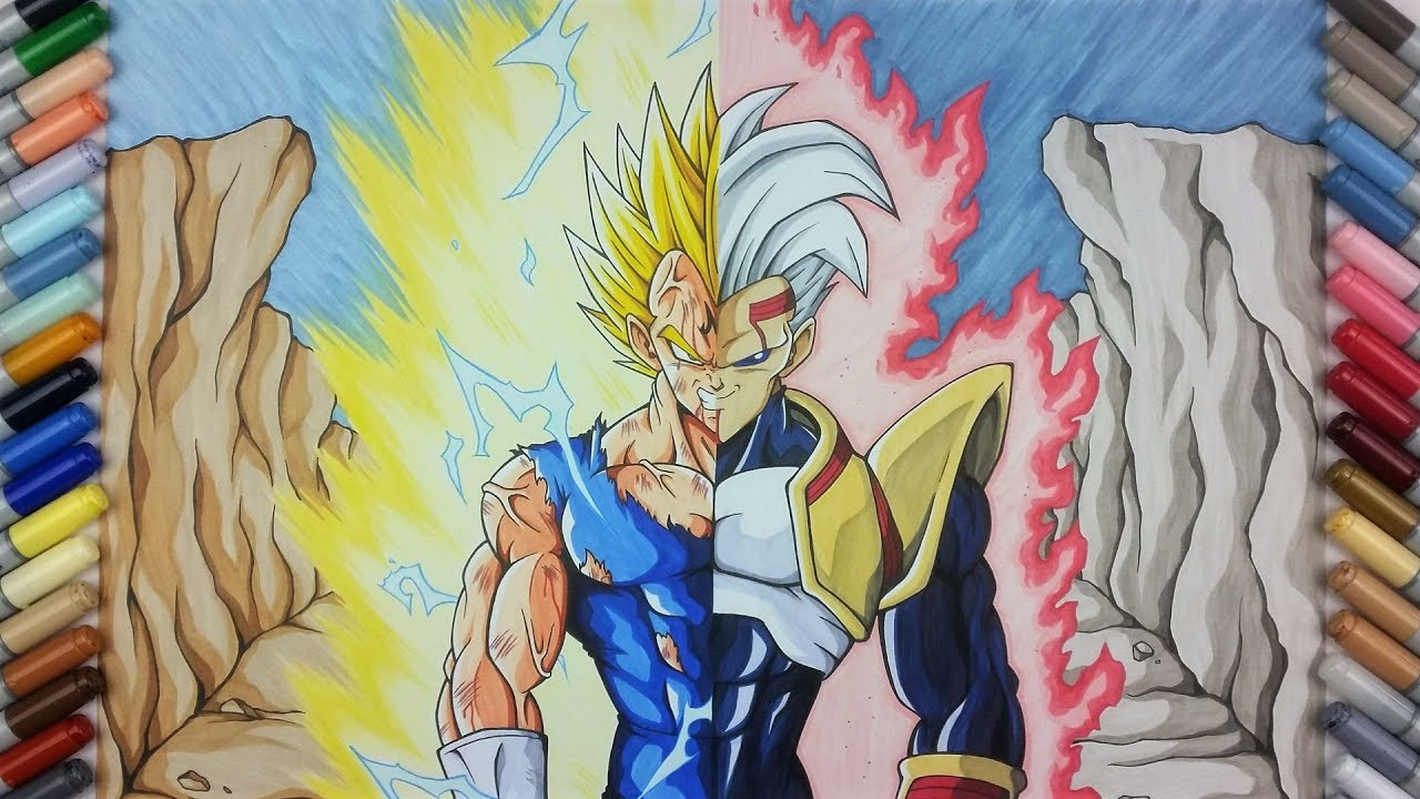 Drawing Majin Vegeta Vs Baby Vegeta Tolgart Youtube