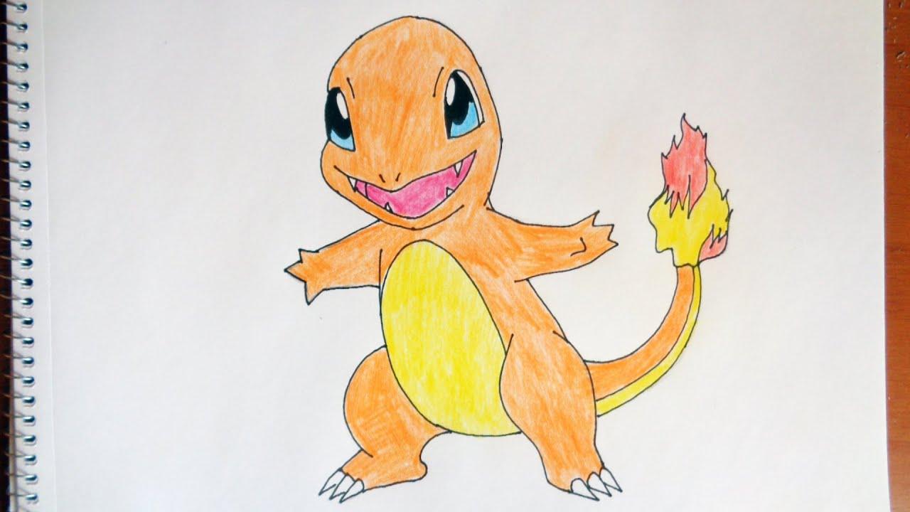 pokemon how to draw charmander