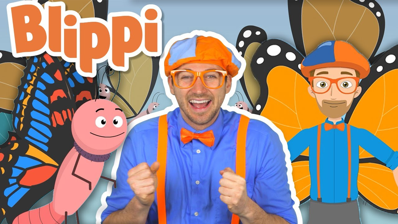 Blippi | Butterfly Song | Nursery Rhymes & Songs | Learn with Blippi | Educational Videos for Kids