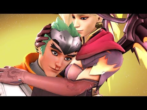 MERCY X GENJI CONFIRMED! Overwatch Funny  & Epic Moments 495