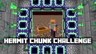Minecraft: Hermit Chunk Challenge -9- BEST WAY ABOVE NETHER ✔