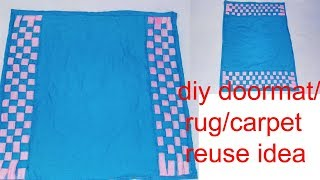How to make doormat/rug/carpet fro old clothes//best out of waste/diy art and crafts/Creative Art