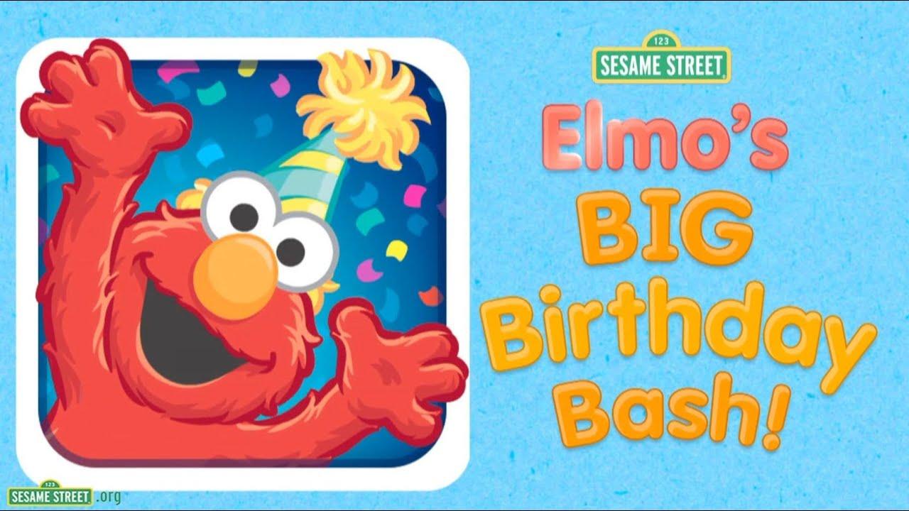Sesame Street Quot Elmo S Big Birthday Bash Quot App Preview