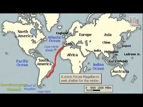 Magellans voyage history animation on a map youtube magellans voyage history animation on a map gumiabroncs Images