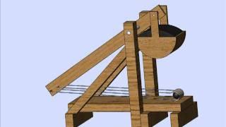 SolidWorks Motion Trebuchet Toy Simulation/ Модель игрушечного требушета