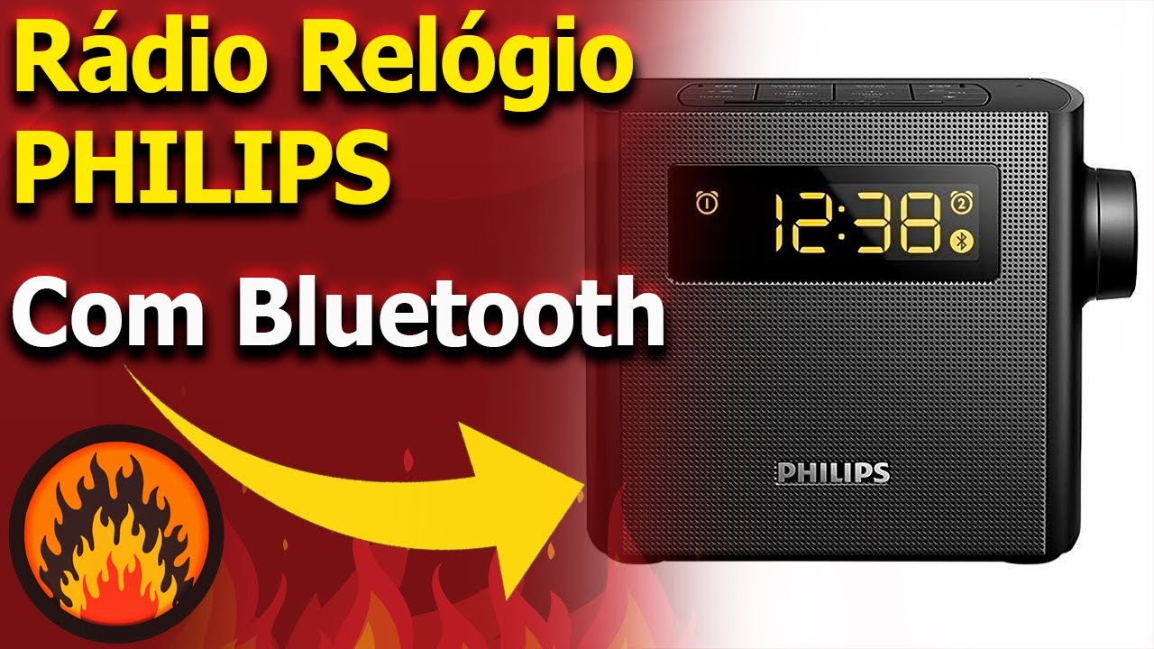 ad1acd3e738 🔴 Rádio Relógio PHILIPS Bluetooth - AJT4400B 37 - Unboxing - YouTube