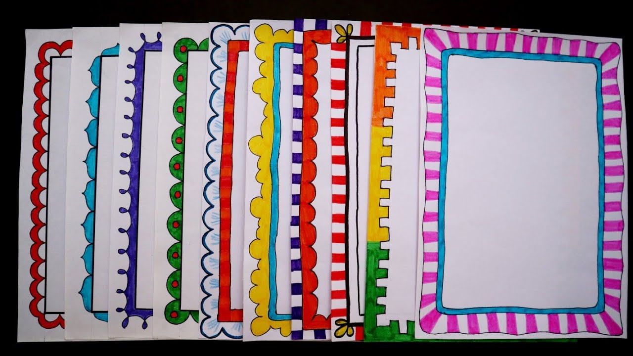Mitgliedd1 and 26 more users found this answer helpful. 10 Border Designs Border Designs For Project File 10 Quick And Easy Border Design Ideas Youtube