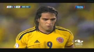Empate Colombia vs Chile 3 - 3 GOL de Falcao Garcia