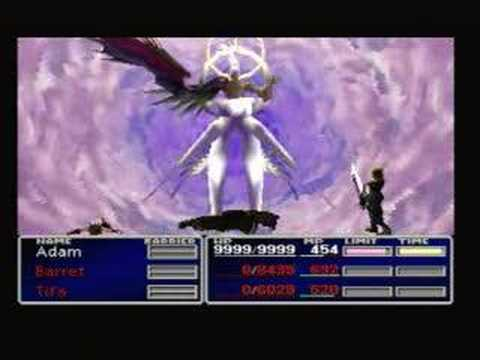 Final Fantasy 7 - Cloud Vs. End-game Sephiroth [SOLO]