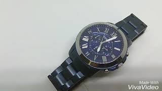 Fossil FS5230P GRANT CHRONOGRAPH BLUE-TONE STAINLESS STEEL WATCH