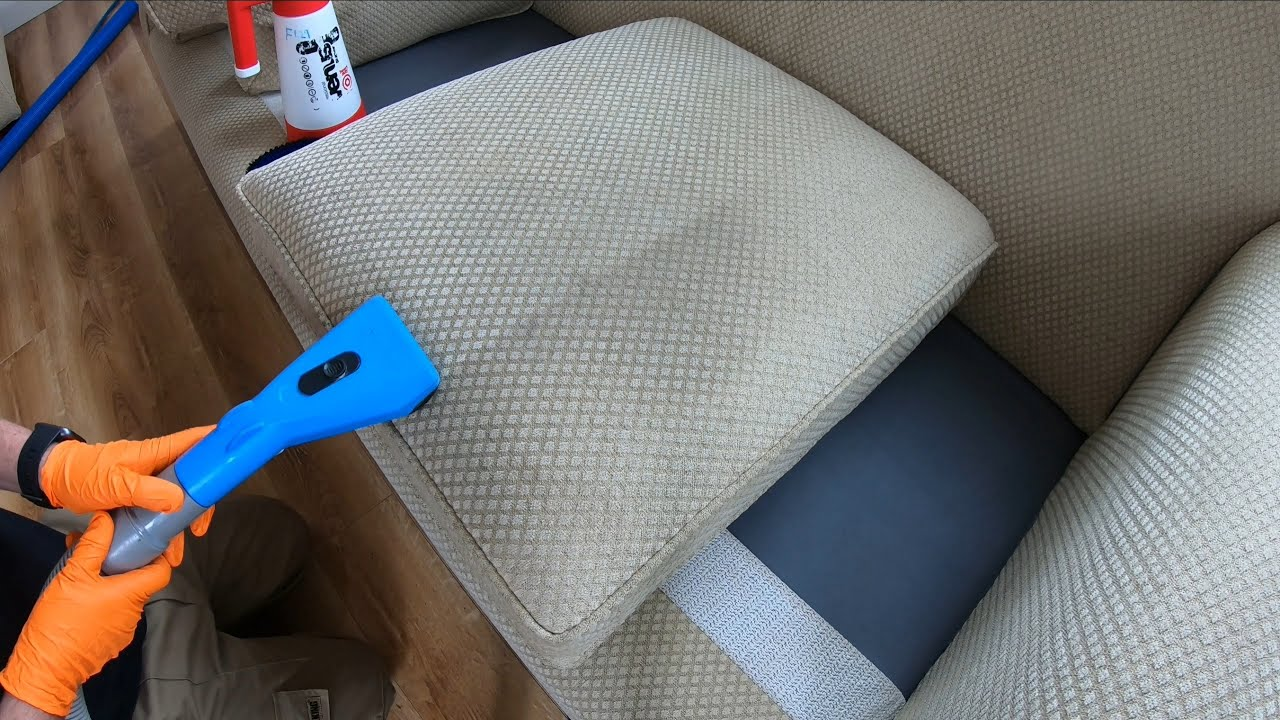 Cleaning a Cream Fabric Couch!! - Upholstery Cleaning in Sligo