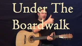Under the Boardwalk (The Drifters) Easy Guitar Lesson Easy Strum Chord How to Play - G D C Em