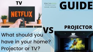 Projector or TV? | What should you have in your home? | Touchwood Automation