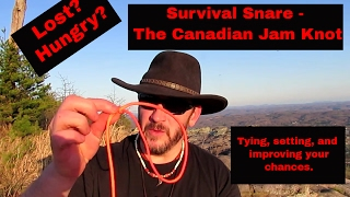 Canadian Jam Knot as a Survival Snare
